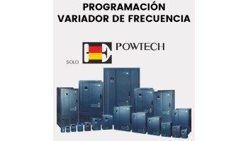 Programación del variador según las placas del motor (Solo Powtech)