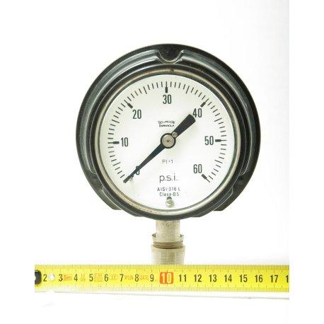 Nº 1610. Manómetro de presión PSI Bourdon.