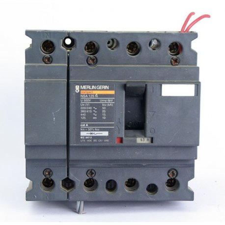 Interruptor Automático De 4 Polos Merlin Gerin 63a Con Bobina De Disparo