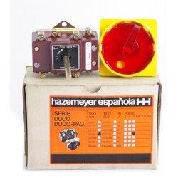 Interruptor / Seccionador De Corte En Carga De 4 Polos Hazemeyer 40a Con Prolongador Para Cuadro