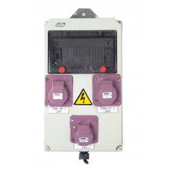 Nº3400. Cuadro PVC con enchufes y magnetotérmico