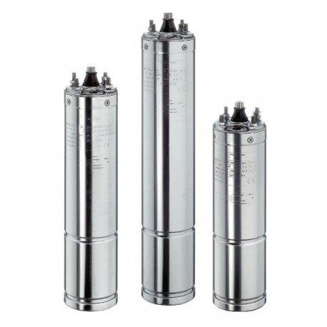 """Motores sumergibles de 4"""" en baño de líquido refrigerante"""