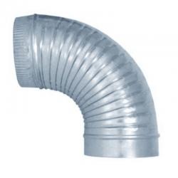Codo rizado 90º galvanizado para tubo liso 1 metro todas las medidas