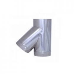 TE 45º acero inoxidable para tubo liso de 1 metro todas las medidas