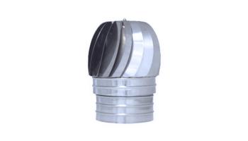 Sombrerete aspirador acero inoxidable para tubo liso de 1 metro todas las medidas