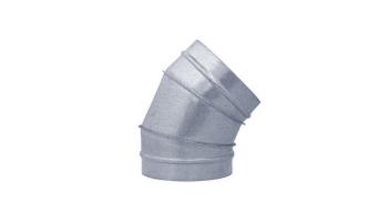 Codo 45º para tubo helicoidal galvanizado todas las medidas