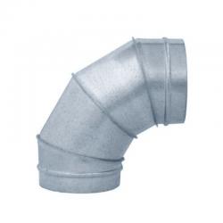 Codo 90º para tubo helicoidal galvanizada todas las medidas
