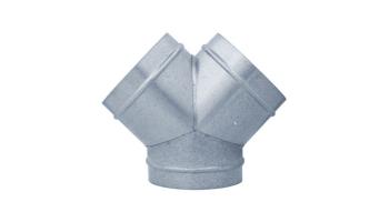 Pieza Y galvanizada para tubo helicoidal todas las medidas