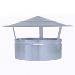 Sombrerete fijo galvanizado para tubo helicoidal todas las medidas