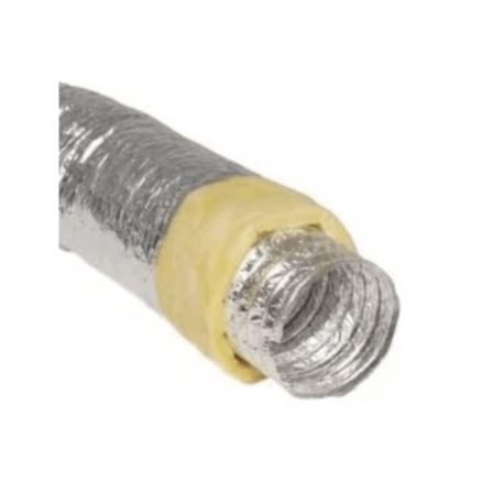 Tubo flexible papel de aluminio aislado 10 metros todas las medidas
