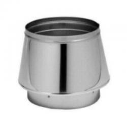 Adaptador tubo doble a sencillo aislado inox-inox para tubos aislados