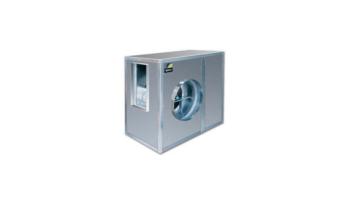 Caja de ventilación con turbina 10/5 de álabes hacia delante aisladas acústicamente, equipadas con ventiladores