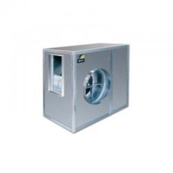 Caja de ventilación con turbina 12/6 de álabes hacia delante aisladas acústicamente, equipadas con ventiladores
