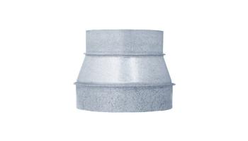 Reducción galvanizada para tubo helicoidal todos los diámetros de entrada y salida