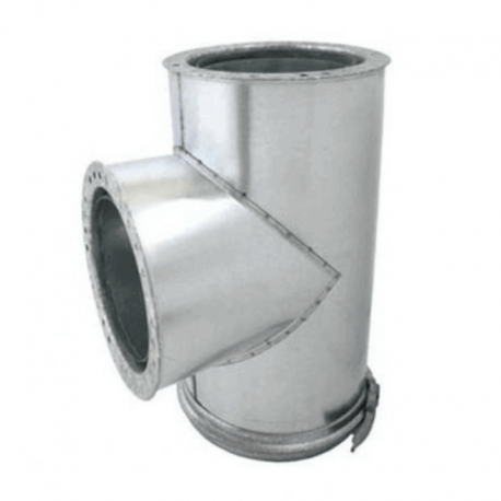 TE 90º aislada acero inoxidable-galvanizado para tubo aislado todas las medidas