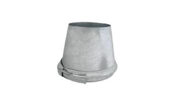 Adaptador tubo sencillo a doble aislado inox-galva para tubos aislados
