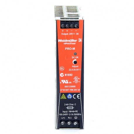 Nº4199. Fuente de alimentación WEIDMÜLLER 110/220V AC salida 24V DC