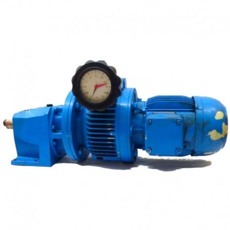 Motorreductor coaxial trifásico 380V con variador de vueltas mecánico 0,75 Kw 16-90 RPM finales