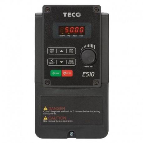 Variador de Frecuencia TECO Trifásico 380V 0,75 KW / 1 CV E510