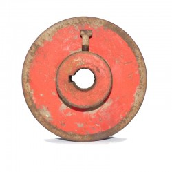 Polea de hierro 140 mm hueco de eje 24 mm