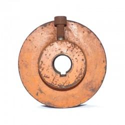 Polea de hierro 120 mm hueco de eje 25 mm