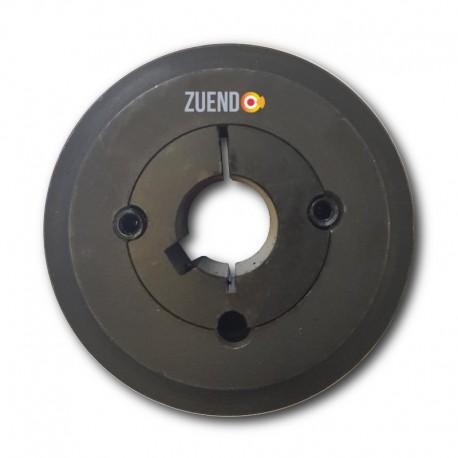 Polea tipo Spa de 100 mm de 2 canales. Selecciona eje.