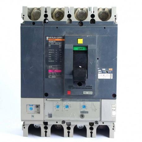 Automático Seccionador de corte de 4 Polos Merlin Gerin Regulable 160/4001