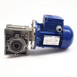 Motorreductor trifásico 220/380V 0,25 Kw con reductor sinfin CUÑAT 35 RPM finales