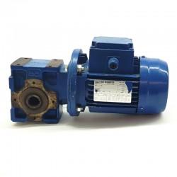 Motorreductor trifásico 220/380V 0,25 Kw con reductor sinfin 27 RPM finales