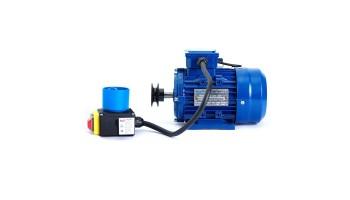 Motor de 3 kw / 4 cv monofásico 220v alto par de arranque para hormigonera con polea y cable