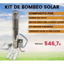 Kit de bombeo solar bomba, variador y empalme submarino