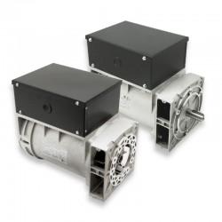 Alternador Mecc Alte trifásico 220/380V 5,5 KVA a 3000 rpm con escobillas y regulación electrónica