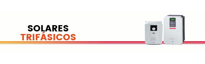Variadores inversores de frecuencia solares trifásicosmarca LS. Convertidor de corriente, tensión, voltaje, solar,trifásicos, de las seriesSeries IC5A, IG5A, IP5A, IS7,en ZUENDO