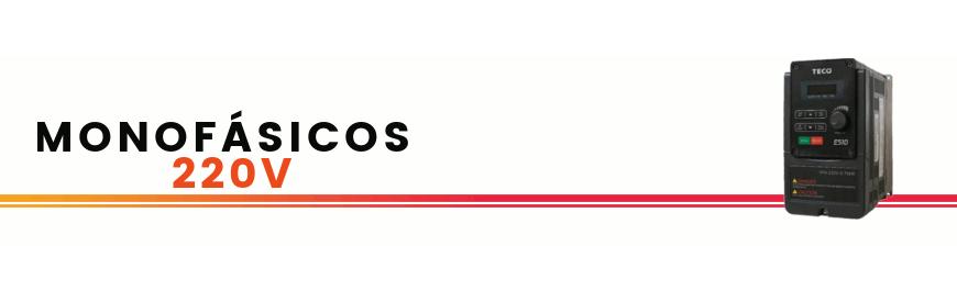 Inversores / variadores / reguladores de frecuencia monofásicos TECO. control vectorial. Conecta motores trifásicos 220V en monofásica 220V. Zuendo.com