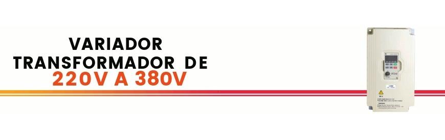 Variadores transformadores de 220V monofásicos a 380V trifásicos para poder conectar motores trifásicos 380V a corriente doméstica monofásica 220V. Variadores especiales. Zuendo