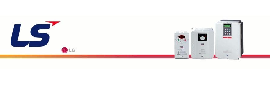 Variadores convertidores de frecuencia de la marca LS, fabricados por LG con entrada monofásica o trifásica y salida trifásica. VDF. Reguladores de voltaje. zuendo.com