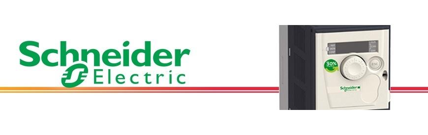 Variadores inversores de frecuencia monofásicos y trifásicos marcaSCHNEIDER en ZUENDO.COM   Familia de variadores de frecuencia de la marca SCHNEIDER, disponemos de todas las potencias y de todos los voltajes.   Son fáciles de instalar, con funciones avanzadas, no requieren de mantenimiento y sobre todo son sencillos de utilizar.   Filtro CEM integrado, control vectorial sin captador, perfil cuadrático pensado para bombas y ventiladores, control de cualquier motor   eléctrico en general con conexión trifásica.   Variadores, convertidores, inversores de frecuencia, de velocidad, arrancador suave, convertidor de corriente, tensión, voltaje, monofásicos y trifásicos, nuevos, baratos, ofertas, económicos, marca Schneider.