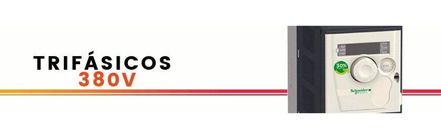 Variadores, convertidores, inversores de frecuencia, de velocidad, arrancador suave, convertidor de corriente, tensión, voltaje, monofásicos y trifásicos, nuevos, baratos, ofertas, económicos, marca Schneider. zuendo.com