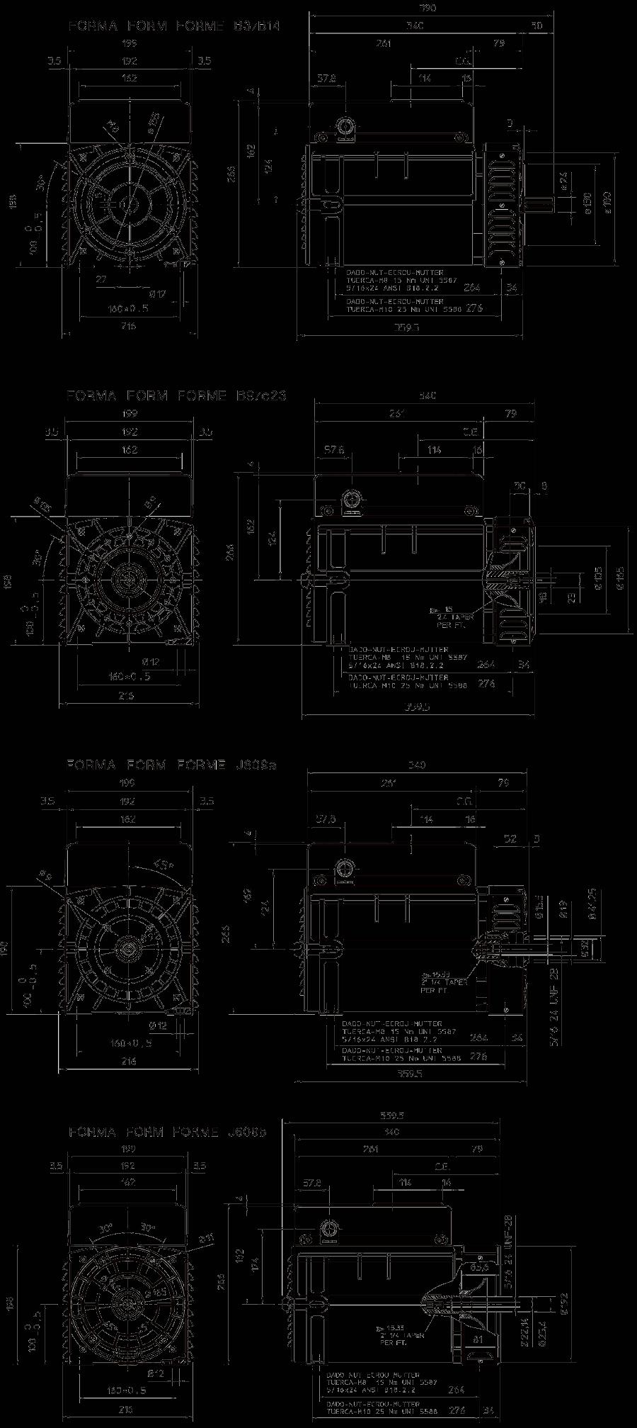 Medidas alternadores S16F zuendo.com