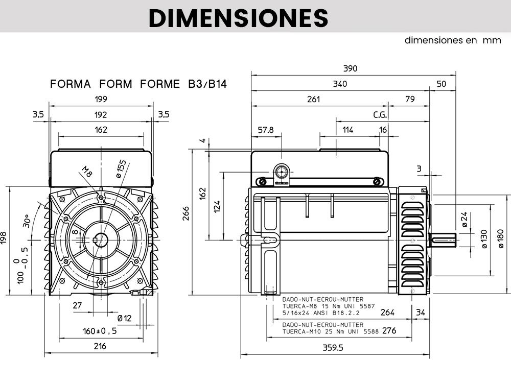 s16f dimensiones