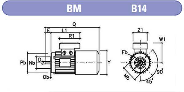 dimensiones motores electrofreno mgm b14 zuendo.com