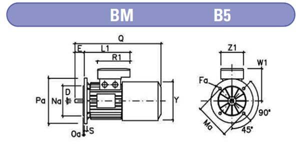 Dimensiones motores electrofreno mgm b5 zuendo.com