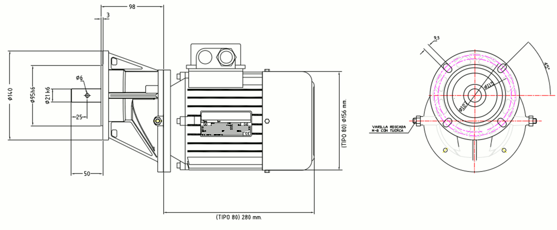 Motor trifasico para alimentador sinfin animales medidas zuendo.com