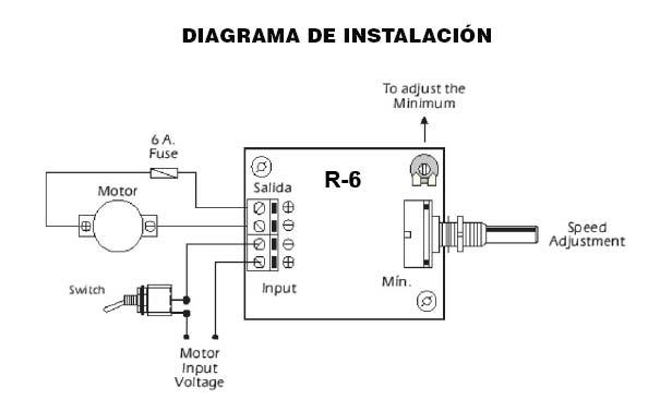 regulador de velocidad para motores de corriente continua