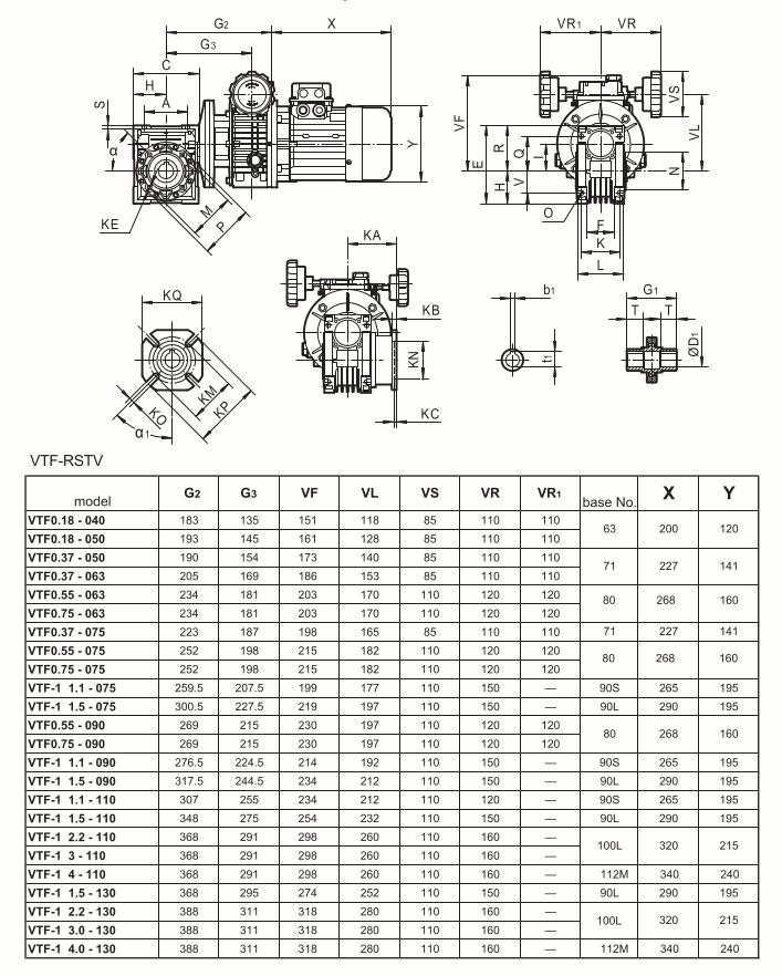 Medidas motovariador con reductor tausend zuendo.com
