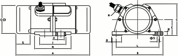 Vibrador ata monofasico cotas TO-TB-TY zuendo.com