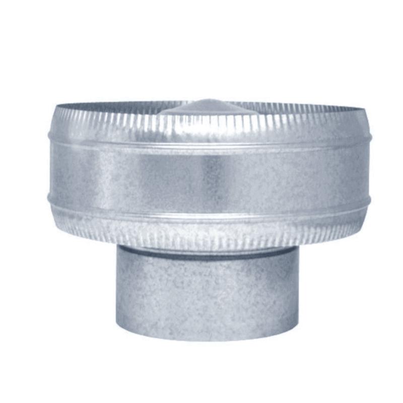 Sombrerete antirrevocante galvanizado para tubo helicoidal todas las medidas
