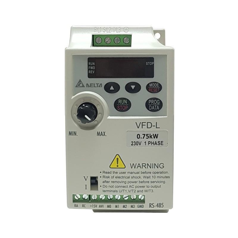 Variador de frecuencia 0,7 KW monofásico 220 V Delta VFD-L