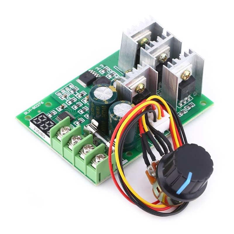 Regulador de velocidad para motores de corriente continua 12/24/48 V máximo 30 A