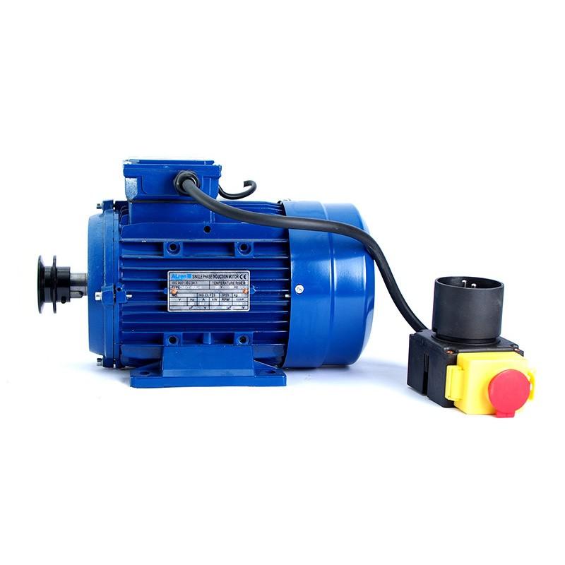 Motor de 0,75 kw / 1 cv monofásico 220v para hormigonera con polea y cable